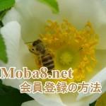 Moba8.net(モバハチ)に会員登録する方法とサイト登録の手順