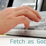 インデックス促進ツールFetch as Googleの使い方